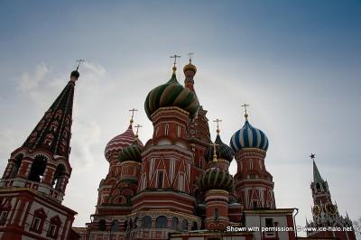 гало на красной площади, Кремль