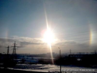 Наблюдение гало на алмазной пыли в Челябинске