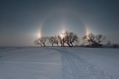 22° гало и паргелии в Челябинской области, фото Марат Ча.