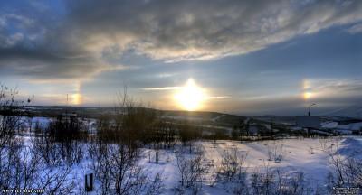 яркие паргелии в Мурманске