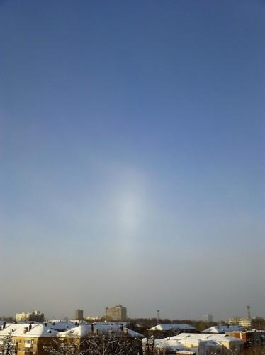 белое пятно в небе
