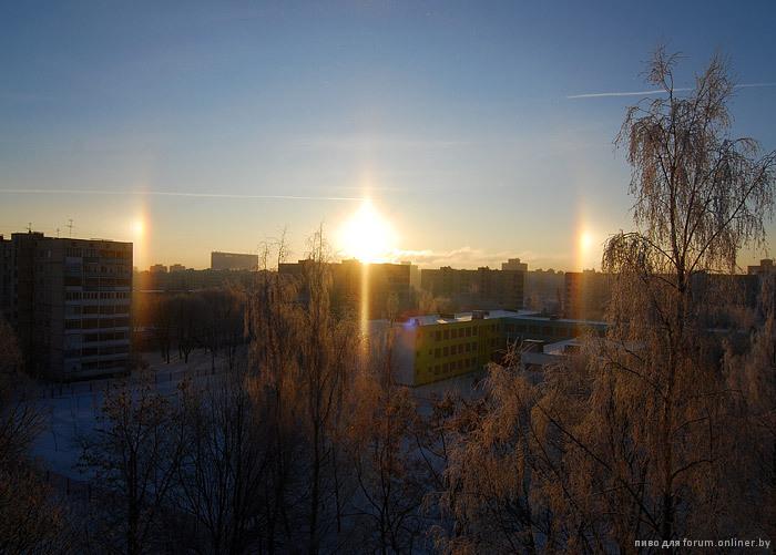 гало, паргелии в Минске