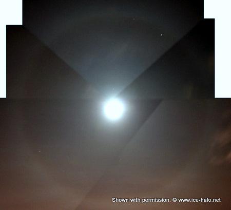 малое гало вокруг луны