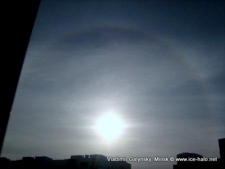 гало, круг вокруг солнца