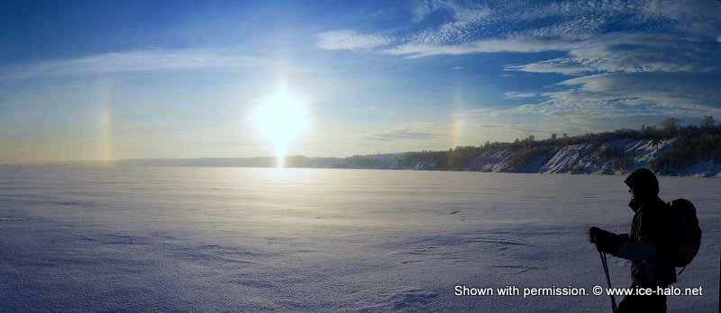 паргелии, радуга возле солнца