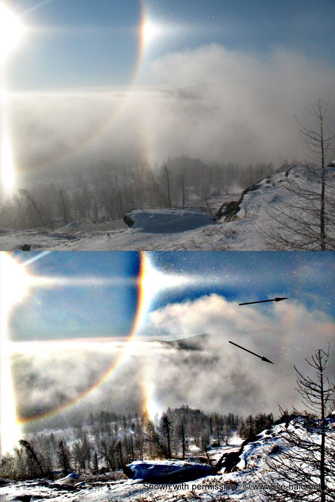 гало, фото до и после обработки