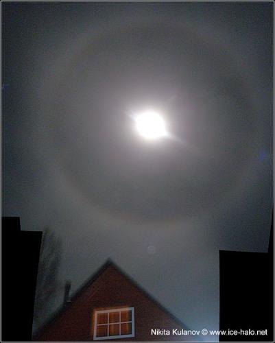 круг вокруг луны, гало