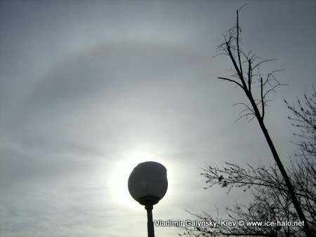 малое гало. круг вокруг солнца