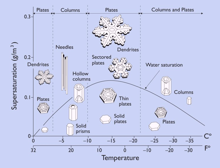 морфологическая схема роста кристалов